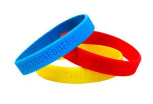 China Silicone Wristband / Fashion Custom Logo Debossed Silicone Wristband for Gift on sale