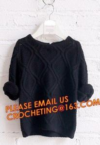 China First choice elegant new knitted kids long girls pullover sweater, Appealing look trendy designs for children pullover s on sale