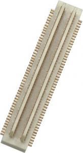 China 2*50P SMT minuto masculino 100Megohm del flash del oro del bronce de fósforo del conector de la echada de 0,5 milímetros supplier