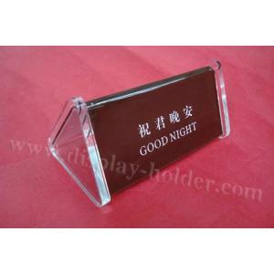 ... Quality Triangle Acrylic Table Signs Table Tent Holders for sale ...  sc 1 st  Acrylic Award Plaque - Everychina.com & Triangle Acrylic Table Signs Table Tent Holders for sale u2013 Table ...