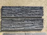 Black Slate Mini Stacked Stone,Split Face Slate Thin Stone Veneer,Black Slate Waterfall Shape Ledgestone,Stone Cladding