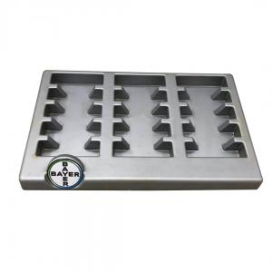 China Silver Bayer Brand Custom Pop Display ,  Vacuum Formed Tray Countertop Display on sale