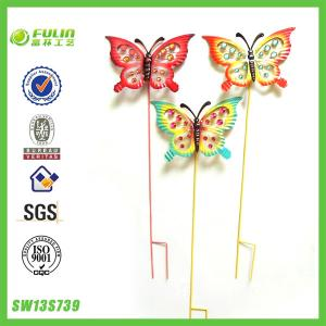 China 3/S Metal Butterfly Decorative Garden Stakes on sale