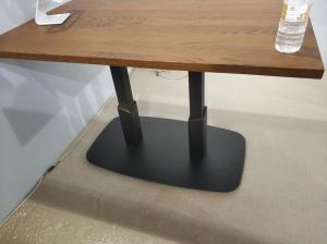 China Professional Square Dining Table Legs Sandy Texture Metal Table base Custom Made on sale
