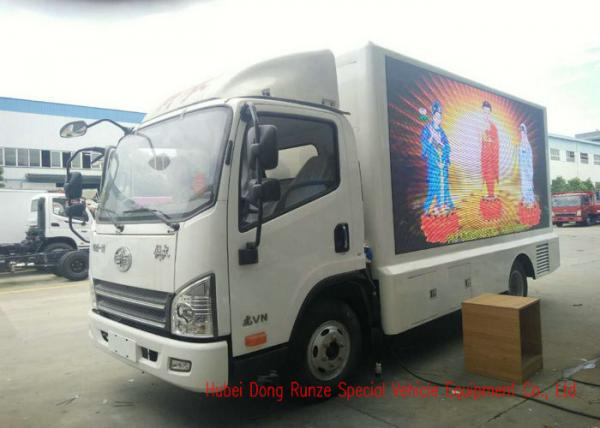 FAW Digital Mobile LED Billboard Truck Three Side For Road