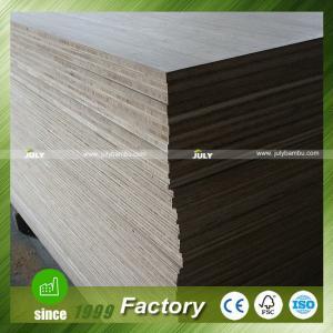 China 19mm cross laminated bamboo board Natural Vertical 3-Ply Bamboo Plywood on sale
