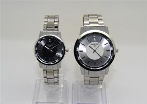 China Sun ray dial Couple Wrist Watches Metal Strap , PC21S lovers watches on sale