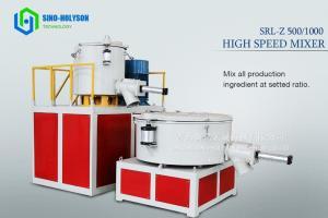 China Sinohs CE ISO SRL- 500/1000 High Speed Plastic Mixer Machine on sale