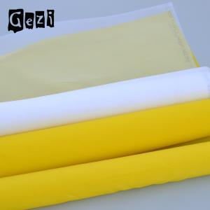 China Flexible Plain Weave Polyester Printing Mesh For T - Shirt Custom Width Length on sale