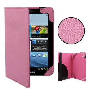 China 2012 Newest Magnetic slim cow leather stand case with smart wireless bluetooth keyboard for 7 inch Samsung Tablet PC on sale