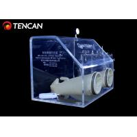 Transparent Laboratory Glove Box , 10mm/15mm/30mm Thickness Acrylic Glove Box