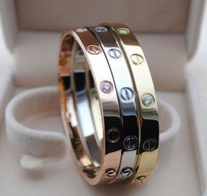 65f04c58b92b4 Imitation brand Cartier gold stainless steel crystal screw bracelet ...