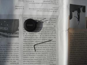 China YOMO Black Retractable Plastic Mini Round Anti-Theft Display Retractors with loop end on sale