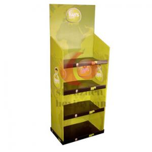 China Recycled retail store corrugated cardboard display stands racks / POP display shelf on sale