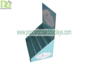 China Corrugated Cardboard Counter Paper Displays Racks For Greeting Card on sale