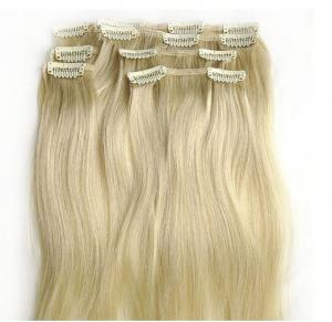 China Bright Blonde Synthetic Human Hair Extensions No Chemical Processed Virgin Hair on sale