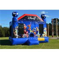 Durable Toddler Inflatable Bouncer , Outdoor Commercial World Disney Jumping Castle