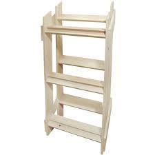 China Custom Painted MDF Floor Wooden Display Stands Shelf Bracket on sale
