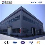 Modular prefab steel structure factory workshop with H section Steel