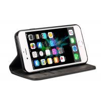 Black IPhone 7 Wallet Phone Case / Three Credit Cards Slots Case Magnetic Flip