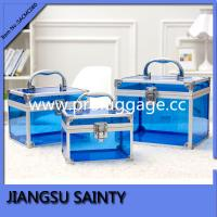 China Blue full set transparent acrylic box makeup on sale