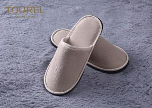 ae1c100b560 ... Quality 100% Cotton Embroidered Velvet Hotel Bathroom Slippers With  Closed Toe SPA House for sale