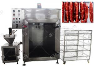 China CE Passed Meat Sausage Smoking Machine Automatic Fish Smoke Oven 50KG / H on sale