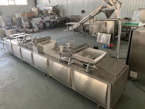 China PLC Granola / Chikki Making Machine Cereal Bar Cutting With Mixing Blade on sale