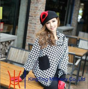 China noble Black T Show Wool Felt Hats , wool felt fedora hat with flower on sale
