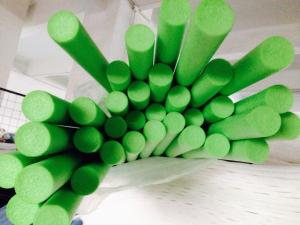 China Green EPE Foam Tube / Rod Extruder Machine For Protecting on sale