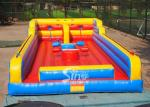 3in1 kids N adults interactive inflatable bungee run with joust poles from China inflatable factory