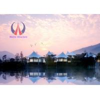 China High End Prefab Luxury Tent Hotel Permanent Tent House Hi - Tech Material Modern Style on sale
