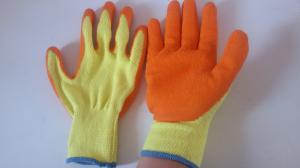 China 10 gauge latex coated gloves good firm grip construction gloves on sale
