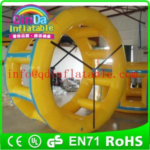 China Inflatable water wheel inflatable water sport game aqua walking roller wheel on sale
