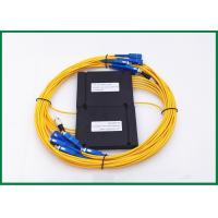 Dual Window single mode fiber splitter 1x6 , High Power Handing Optical Coupler