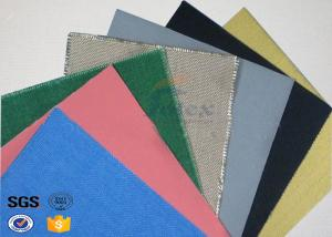 China Colorful PVC Coated Fiberglass Fabric for Flex Duct , Air Duct supplier