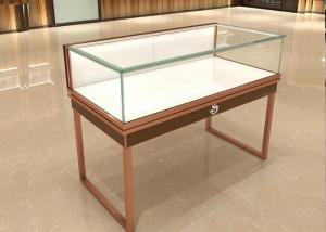 China Multifunction Commercial Jewelry Display Cases Glass Top With Drawer Board on sale