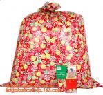 Giant christmas party plastic santa present gift sack bag,Large size custom design plastic biodegradable disposable chri