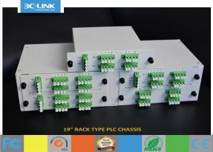 "China 19"" Rack Mount Passive Fiber Optic PLC Splitter chassis for different ratio PLC splitters on sale"