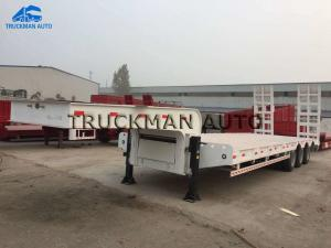 China 3-6 Axles Low Bed Truck Trailer , Low Bed Container Semi Trailer 60t on sale
