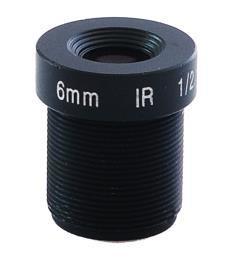 China 3.0 Megapixel Camera Lens 6mm 74 Degree 1/2.5'' inch, M12 mount on sale