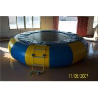 Non - Toxic Blow Up Water Trampoline , Outdoor Inflatable Water Toys For Adults