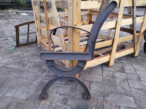 Tremendous Antique Cast Iron Garden Bench Legs With Wood Slats For Cast Uwap Interior Chair Design Uwaporg