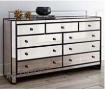 China Modern Mirrored Sideboard Table , 9 Drawers Antique Mirrored Sideboard on sale