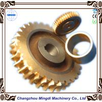 China Copper Ra 0.4 - 0.8 Stepper Motor Single Hellical Worm Gear Parts for Worm Gearbox on sale