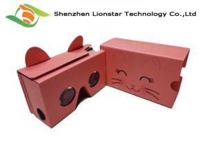 China OEM Cardboard VR Glasses 2.0,37MM Diameters PMMA Lens Virtual Reality 3D Glasses on sale