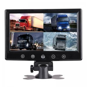 China Car Headrest Rearview Monitor 9 Inch TFT LCD Car Monitor Split Screen Quad 4 Channel on sale