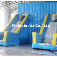 Big Pvc Inflatable Double Water Slide with Blower for Outdoor Game