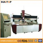4 axis 37KW Steel high pressure water cutter Gantry type FDA CE