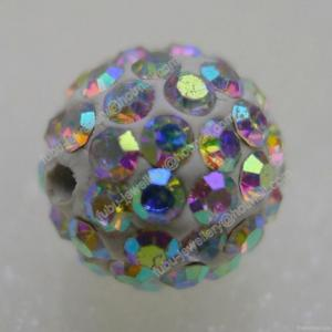 China Crystal Ab Clay Shamballa Pave Beads In Size 6mm, 8mm, 10mm, 12mm on sale